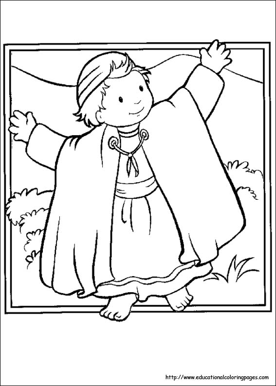 Bible Story Pictures To Color