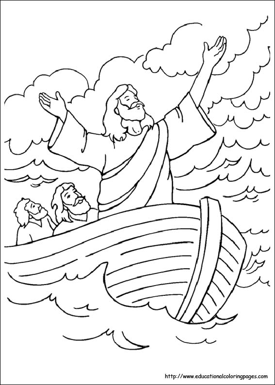 child bible story coloring pages - photo#12