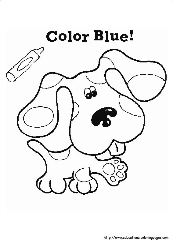 Blues Clues in Dress Up dot to dot printable worksheet - Connect ...