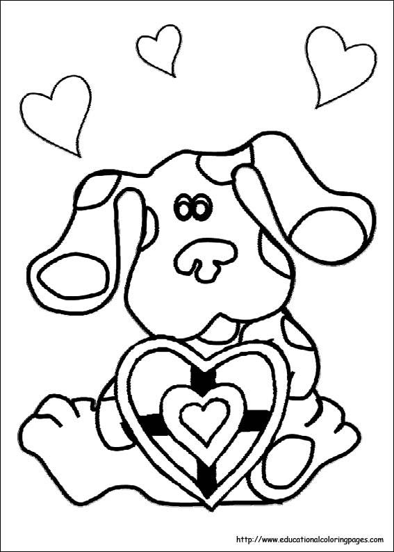 Blue S Clues Coloring Sheets Educational Fun Kids Coloring Pages