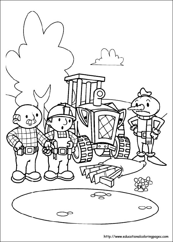 Bob the Builder Coloring Pages - Educational Fun Kids Coloring Pages ...