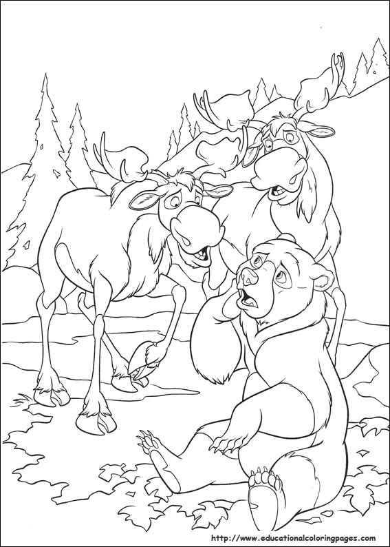Brother Bear 2 - Educational Fun Kids Coloring Pages and Preschool ...