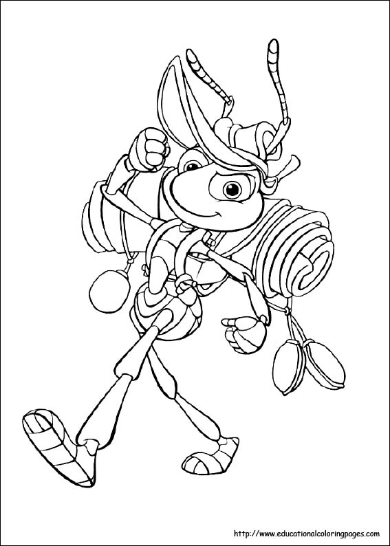 A Bug\'s Life Coloring Pages - Educational Fun Kids Coloring Pages ...