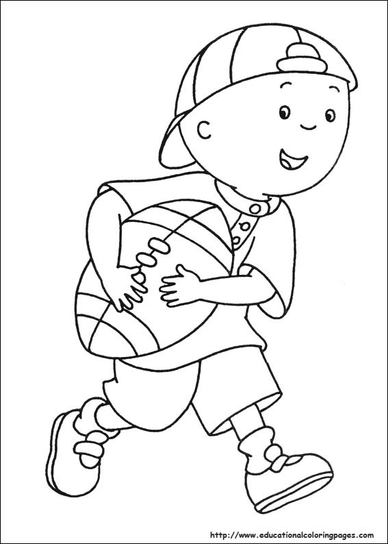 caillou online coloring pages - photo#5