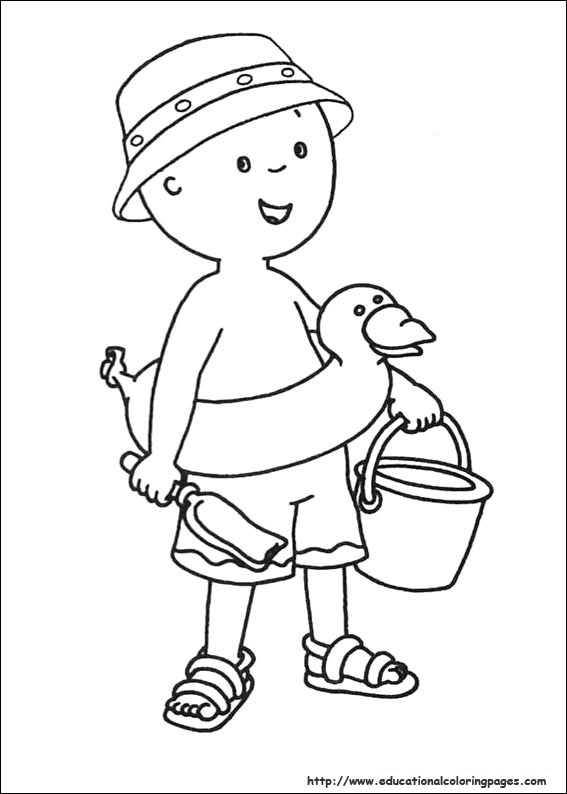 Caillou Coloring Pages Educational
