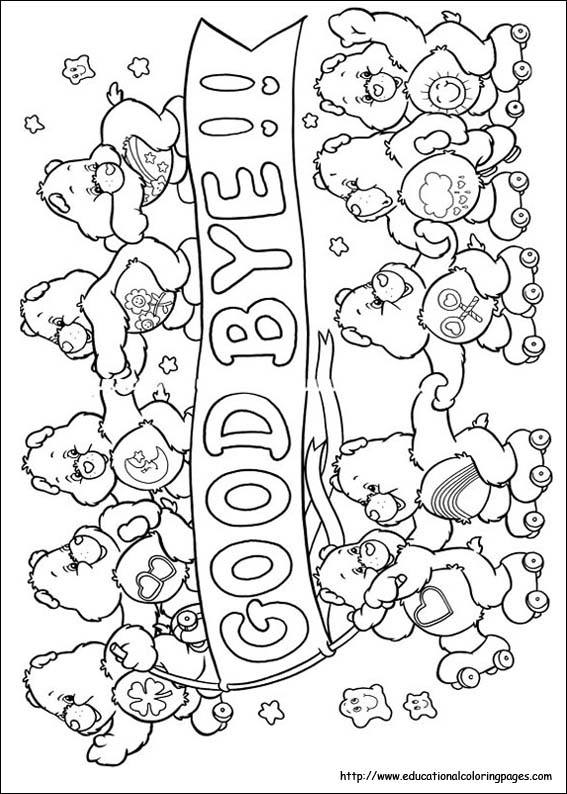 Carebears Coloring Pages free For