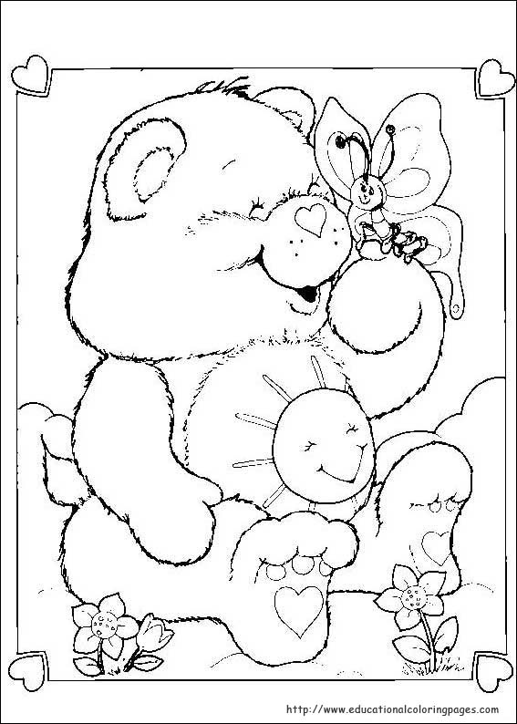 the care bears coloring pages - photo#11