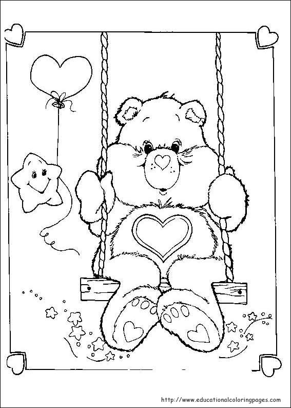 the care bears coloring pages - photo#28