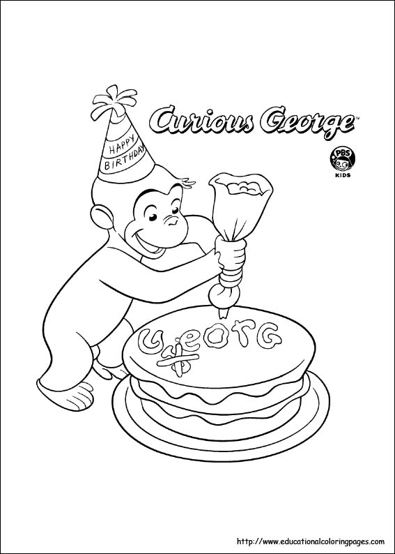 george coloring pages