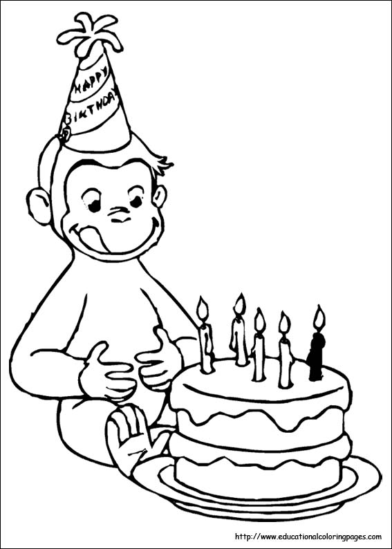 coloring pages of curious george - photo#7