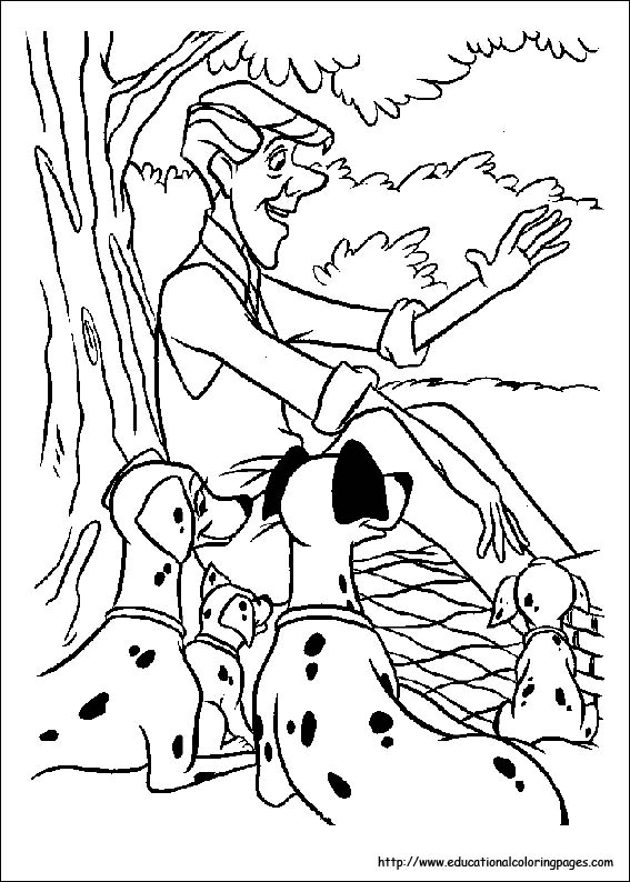 dalmation coloring book pages - photo#13