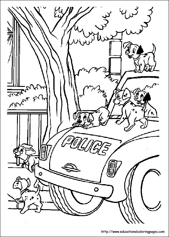 coloring pages of dalmation - photo#37