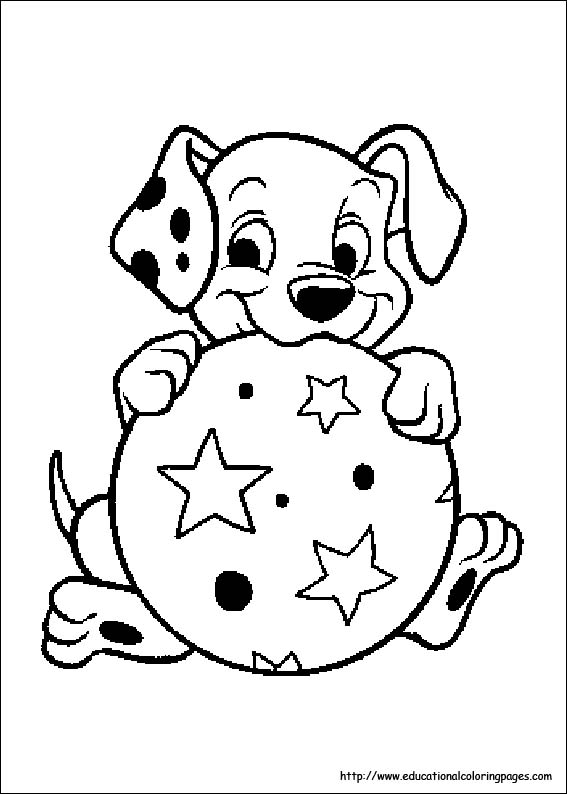 101 Dalmation Coloring Pages