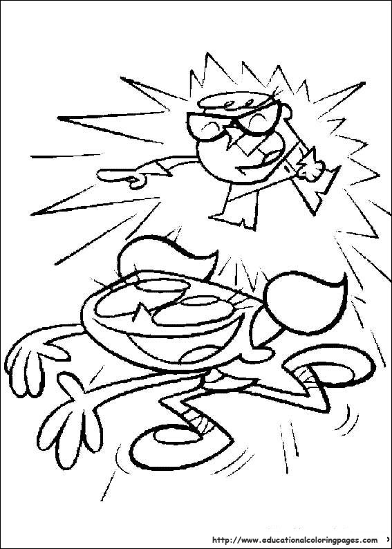 Dexters laboratory Coloring Pages