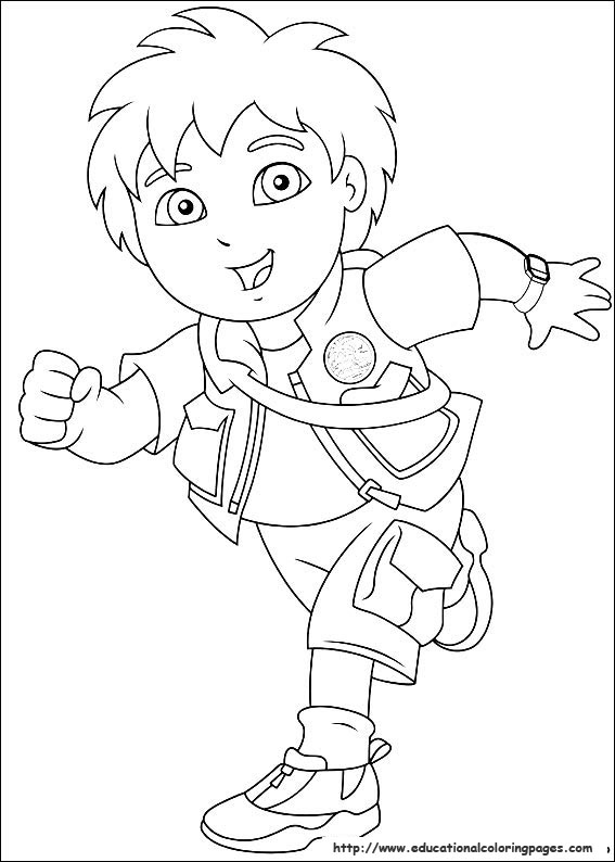 Diego - Educational Fun Kids Coloring Pages and Preschool Skills ...