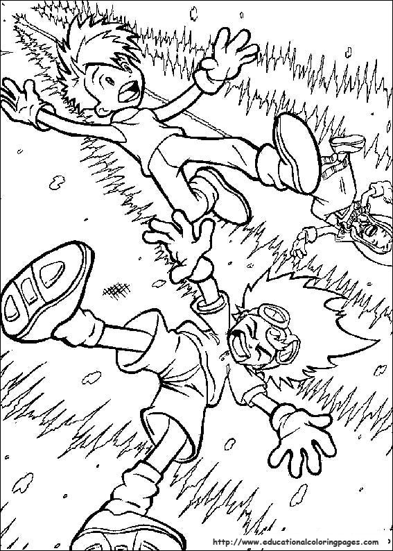 Digimon Educational Fun Kids Coloring Pages And