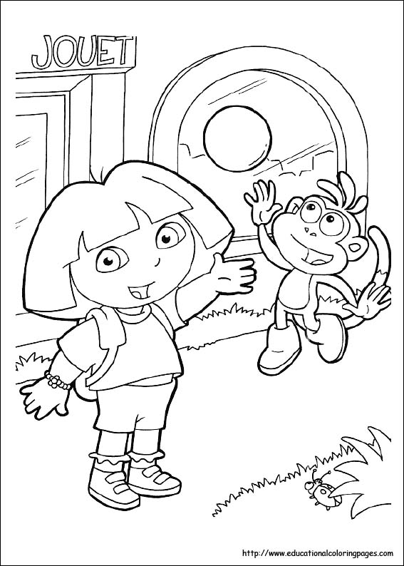 dora coloring pages free for kids - Educational Coloring Pages