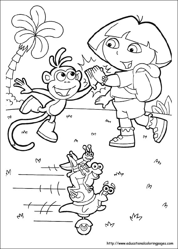 Dora Coloring Pages - Free Printables - MomJunction | 794x567