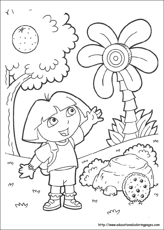 dora coloring pages free for kids - Dora Explorer Coloring Pages Free Printable