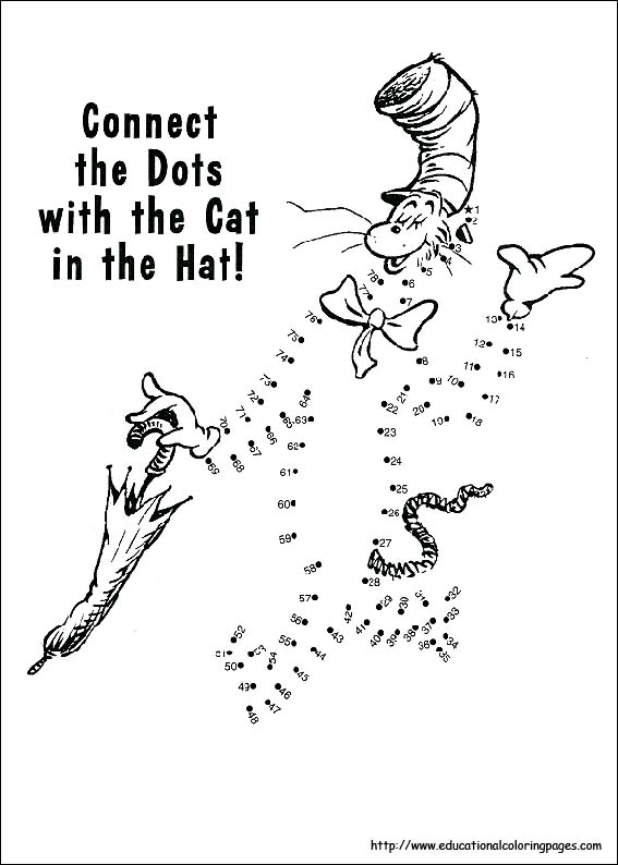 Free Coloring Pages Of Dr Seuss Bookmark