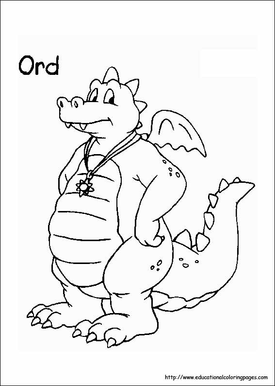 Dragon Tales Coloring Pages Educational