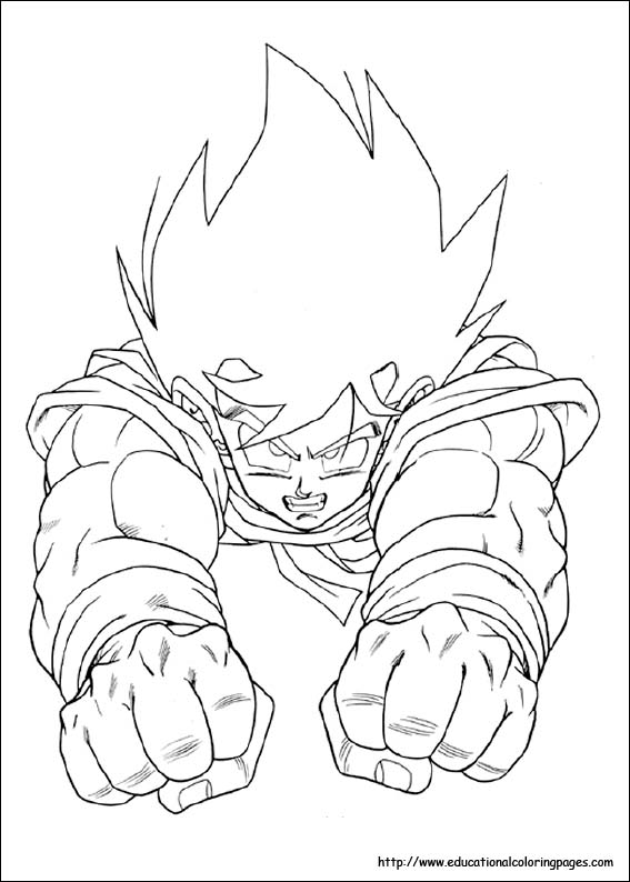 Dragonball Z Coloring Pages Free For Kidsrheducationalcoloringpages: Colouring Pages Of Dragon Ball Z At Baymontmadison.com