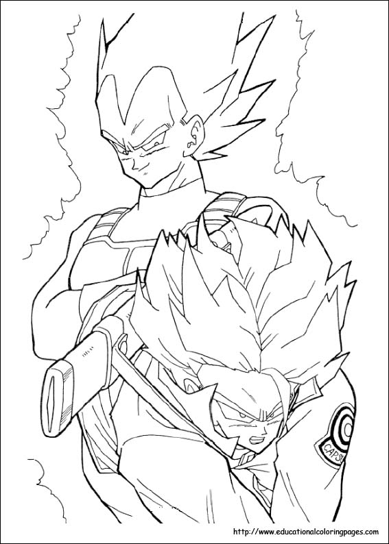 dragonballz coloring pages com | Dragonball Z Coloring Pages free For Kids