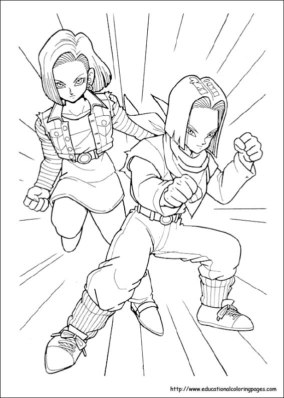 cool dragon ball z coloring pages | Dragonball Z Coloring Pages free For Kids