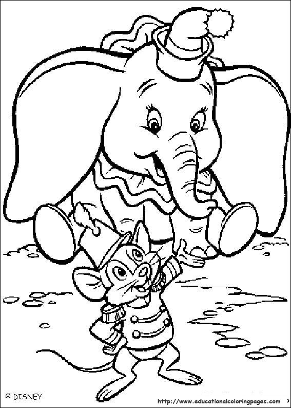 dumbo coloring pages free - photo#7
