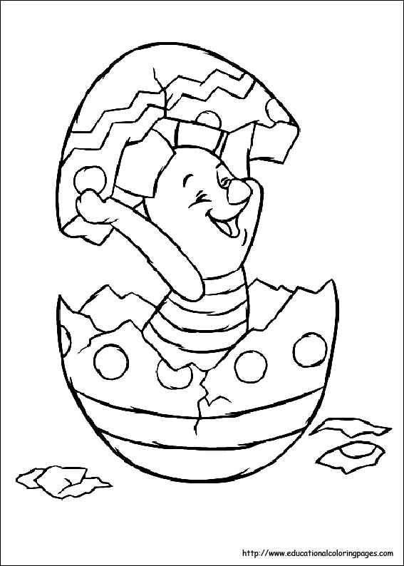 the pooh easter coloring pages - photo#23
