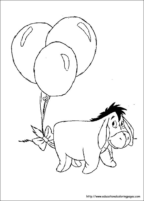 Eeyore Coloring Pages Educational
