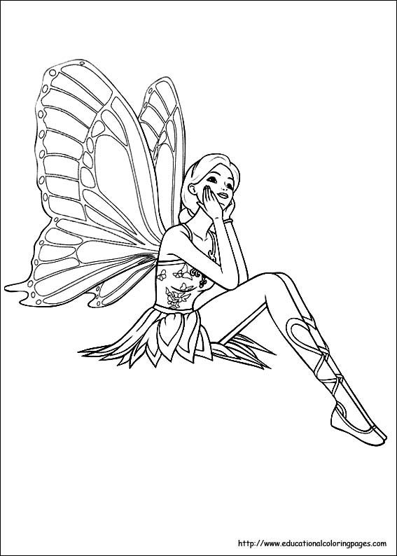 fairies coloring pages free for kids - Fairy Coloring Page