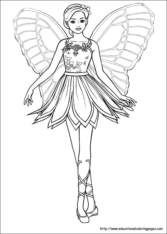 Fairy Outline Template Fairies Coloring Pages Free For Kids