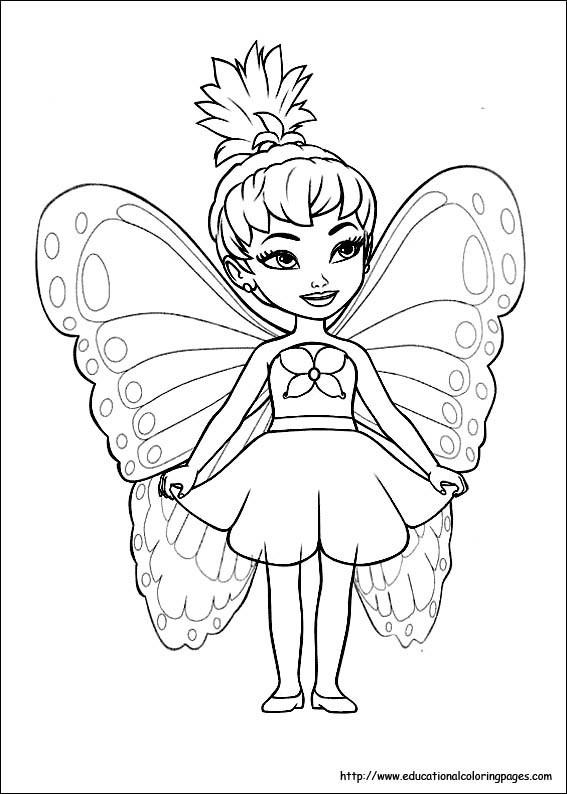 fairy coloring pages for children - photo#35