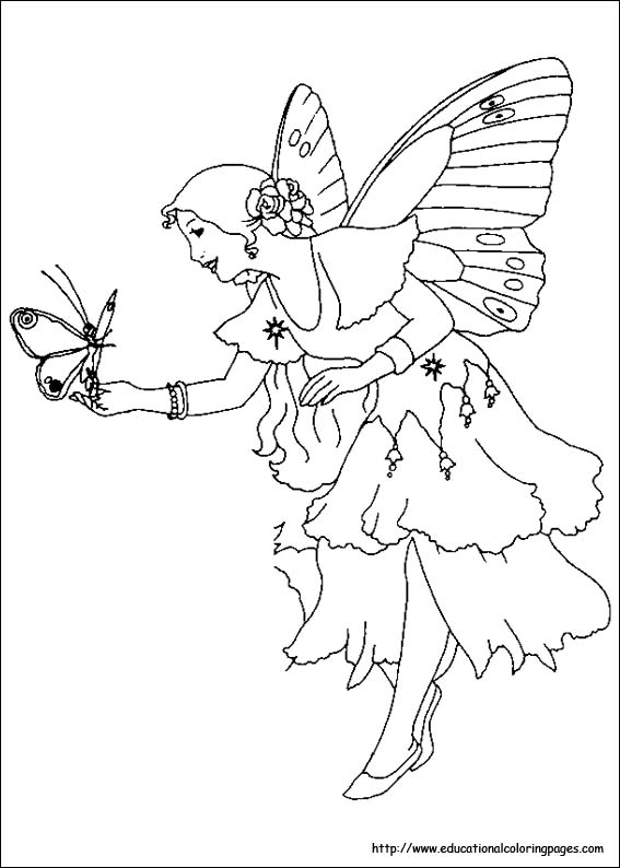 print - Fairy Princess Coloring Pages
