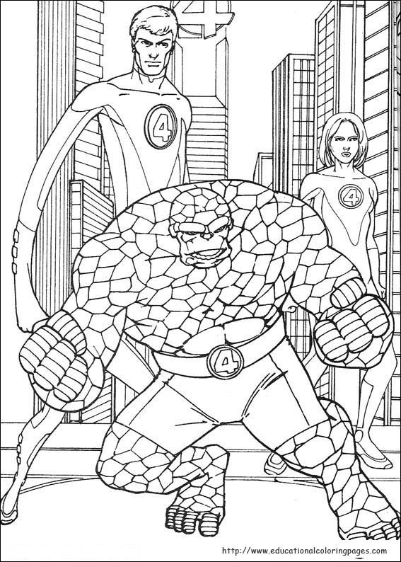 coloring pages fantastic four | Fantastic Four Coloring Pages - Educational Fun Kids ...