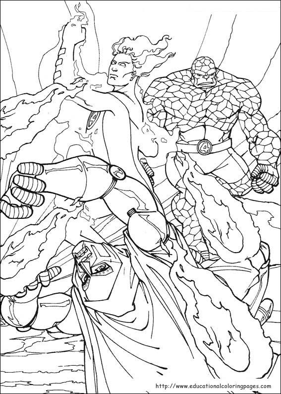 Fantastic Four Coloring Pages - Educational Fun Kids Coloring ...