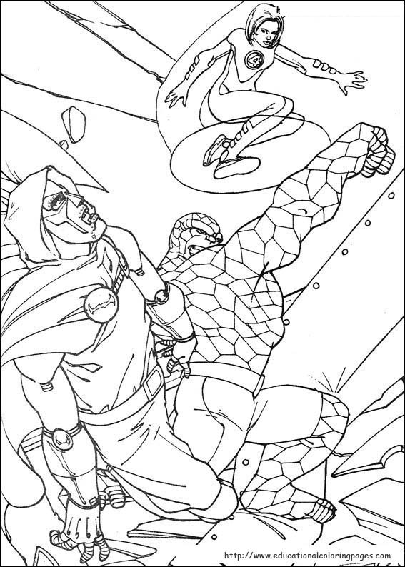 coloring pages fantastic four - photo#30