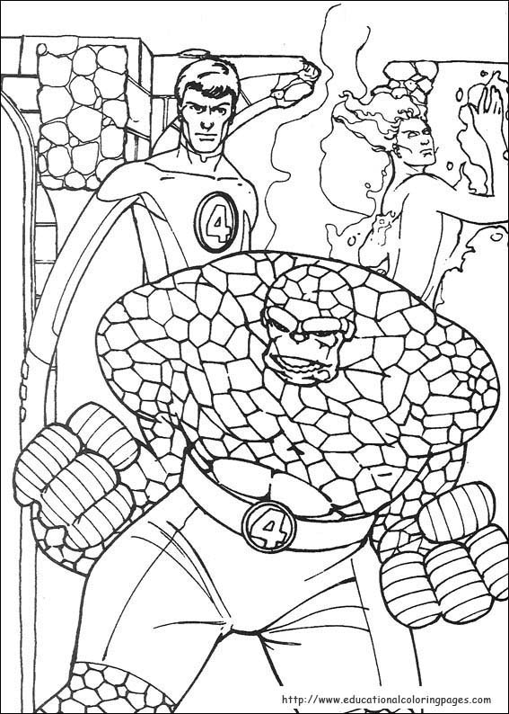 Fantastic Four Coloring Pages Educational Fun Kids