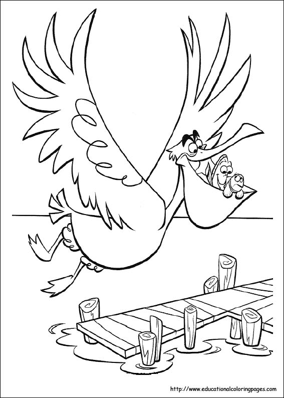 print - Finding Nemo Characters Coloring Pages