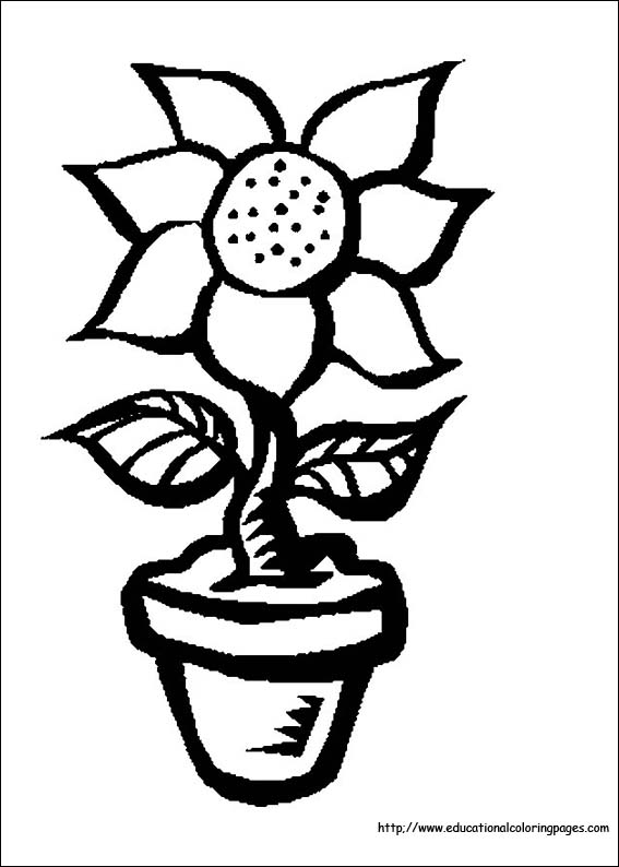 flower coloring coloring pages free for kids - Free Coloring Pages Of Flowers