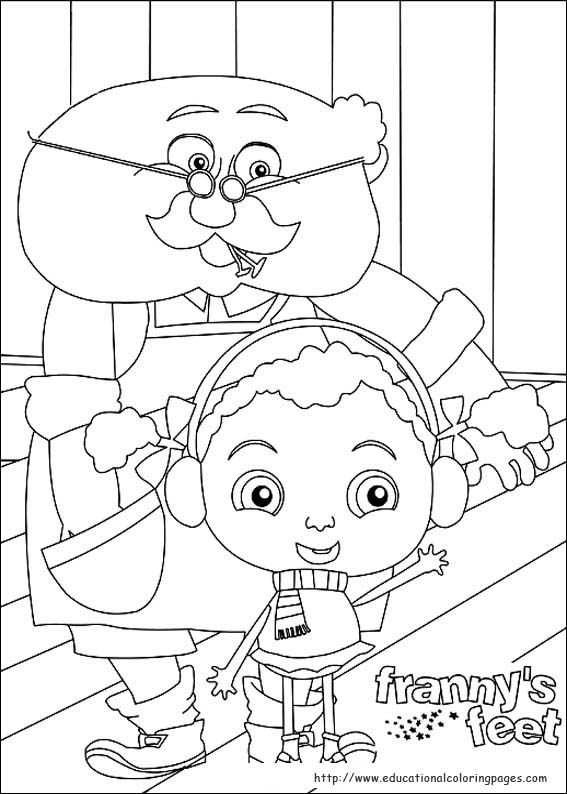 Frannys Feet Coloring Pages Educational