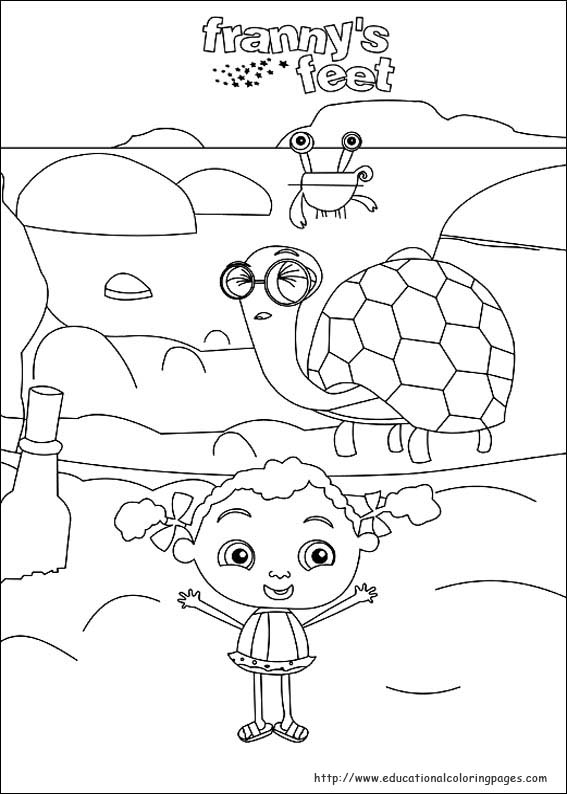 Frannys Feet Coloring Pages - Educational Fun Kids Coloring Pages ...