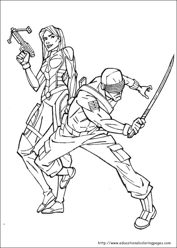 Gi Joe Coloring Pages Educational Fun Kids Coloring