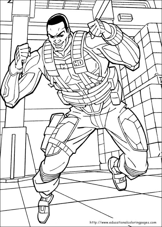 GI Joe Coloring Pages Educational