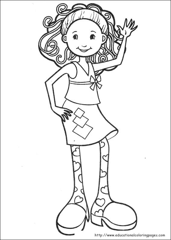 Printable groovy girls coloring pages ~ Groovy Girls Coloring Pages free For Kids