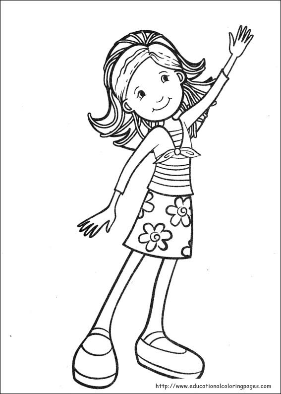 groovy girls coloring pages free for kids - Girl Color Pages