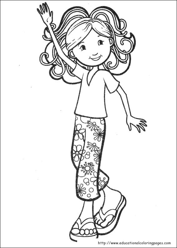 groovy girls coloring pages free for kids - Colouring Pictures For Girls