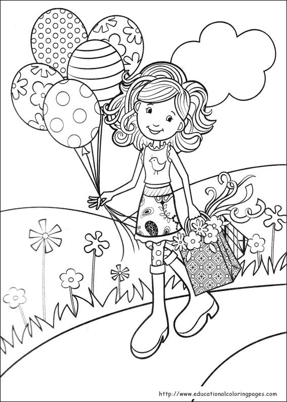 groovy girls coloring pages free for kids - Girl Printable Coloring Pages