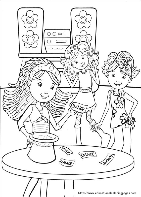 groovy girls coloring pages free for kids - Coloring Books For Girls